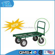 "New Style Garden Utility Wagon /Garden Tool Cart with ""U"" handle"