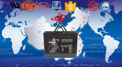 rechargeable solar battery series 12v75ah deep cycle battery make in China
