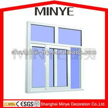 NEWLY PVC SLIDING GLASS WINDOW /EXTRUDED PVC PROFILE WINDOW/CHEAP PRICE PLASTIC UPVC WINDOWS