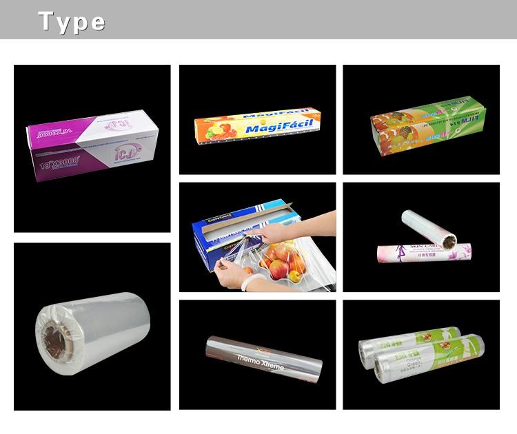 Super Mercado e Uso Doméstico Cogumelo Frutas e Vegetais Envoltório PVC Película Aderente