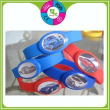 led light flashing silicone running wrist band bracelet