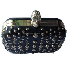 Top beauty studded skull box evening clutch prom party bags handbags