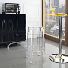 Discount Ghost acrylic bar stool PC-103A3