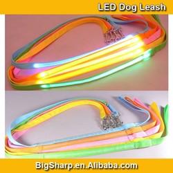 100pcs Wholesale LED Flashing Dog Leash Glowing Light Dog Tough Leash 8 Colors LED Pet Leashes Length 120cm DL2002