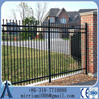 2015 open residential ornamental iron fence(factory price)