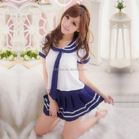 2015 Sex Toys Cosplay School Uniform Adult Costume Dress Full Outfit For Lady