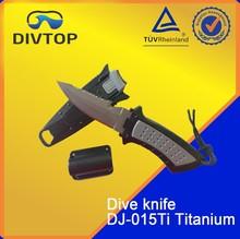 SCUBA diving gear titanium knife diving knife with line cutter