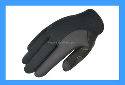 9165D Super quality durable leather palm Water repelling Neoprene work glove, sailing glove, fishing glove