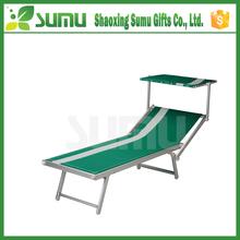 Multi-Function Folding Metal Deck Chair