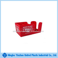 Red Color Plastic Bar Napkin Caddy with White Printing