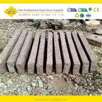 Red Granite Parking Stone block stype of Granite road kerb