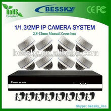 8CH complete ip cctv system, 1080P HD analog to ip camera converter