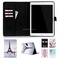 Lovely Cartoon Printing Leather Case Magnetic Flip Stand Case For iPad 5/iPad Air