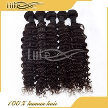 Wholesale deep wave 6a brazilian cheap human hair extensions buy one get one free.