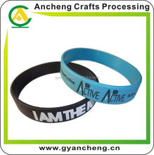 Promotion custom silicone wristband for trade fair for advertising gifts