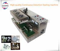 Desktop Continuous Round Bottle Induction heating Sealing Machine with aluminum foil