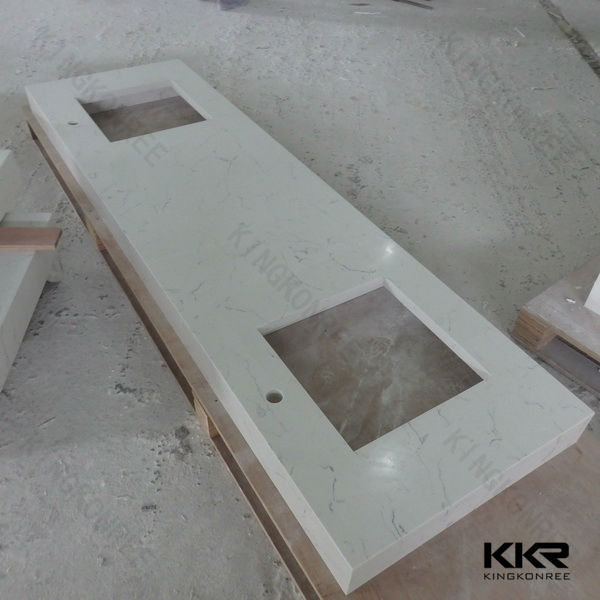Precut Artificial Marble Stone Countertop With Molded Sink
