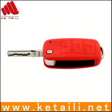 Red protective key cover for car key, silicone car key cover
