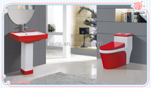 red&white bathroom Sanitary Ware Sets