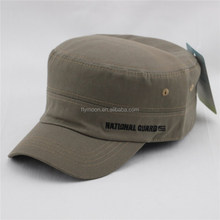 New Gray Vintage Distressed Cadet Hat Cap Military Army Patrol Adjustable Hats