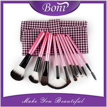 Professional 10pcs Makeup Brush Set tools Make-up Toiletry Kit Wool Brand Make Up Brush Set Case