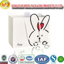 promotional customized logo colorful paper gift packaging bag for store shopping or food