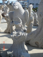 Chinese grey Granite stone garden animal sculpture eagle statue/Carvings/sculpture from China