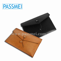 leather portfolio case, man briefcase, envelope clutch bag