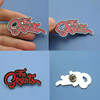 red color fill greats letters metal lapel pin, letters collar pins/ letters brooch/ letters badges