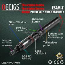 Amazing new design Esam-T kit 1600mAh ego twist battery and mod max vaporizer electronic cigarette