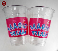 16oz PET disposable plastic cup wholesale