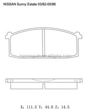 Wholesale Auto Parts GDB197 Car Disc Brake Pad set For Nissan Sentra Diesel