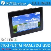 10.1 inch led touchscreen all in one computer/windows7 all in one desktop 4G RAM 32G SSD