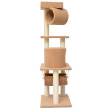 "Dspet Deluxe 55"" Indoor Cat Tree Condo Scratcher Sisal Post Tree Pet Products Supplies Toy cages laying House"