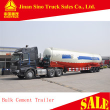 mechanical suspension 60 ton V shaped bulk cement trailer