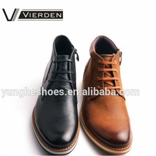 Lace up goodyear - welted couro genuíno homens bota Z1445-3-1