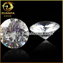 wuzhou manufacturer round zircons machine cut 1mm to 10 mm zircons