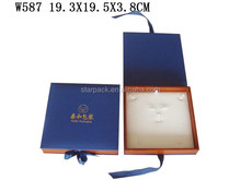 Hit Color Jewelry Set Wood Box with Ribbon Bow W587