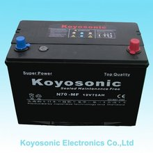 Best quality Sealed lead acid Maintenance Free Car Battery with Long Life Time Service 12v 70Ah