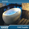 HS-B562 indoor 71 inch length with colorful led light oval acrylic bathtub