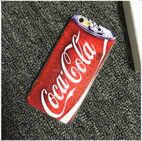 Verisimilitude Coco Cola Bear Print Mobile Phone Case Hard PC Case for Iphone 6