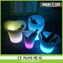 16 color changing flash Glowing large led ice bucket