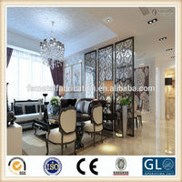 304 stainless steel custom hanging fabric room divider
