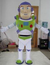 Caliente la venta de la buena calidad adultos traje de la mascota de buzz lightyear traje de la mascota