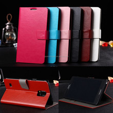 Magnetic Slim Card Slot PU Leather Case Cover For Galaxy note 4