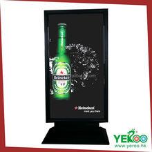 electronic product advertising free standing led illuminated light box