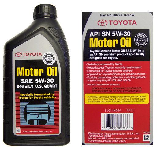 Toyota Motor Oil 5w 30 Api Sn Ilsac Gf 5 Buy Toyota