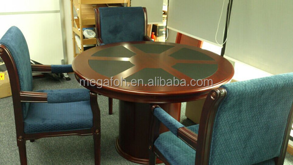 Classic Wooden Conference TableSmall Round Meeting Tablefohc - Round wood conference table