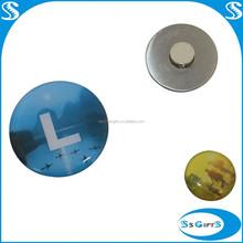 Customized logo Printing magnetic lapel pin
