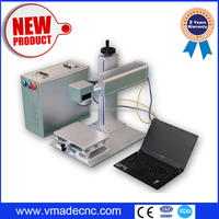 Rotary mini 30w fiber metal jewelry laser engraving machine for sale